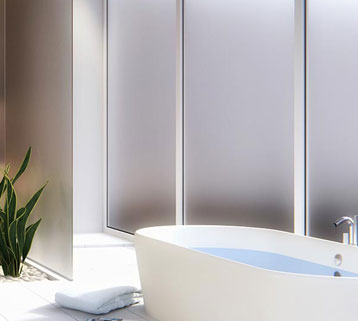 bathroom with matte windows - Windows Privacy and Decorative Options
