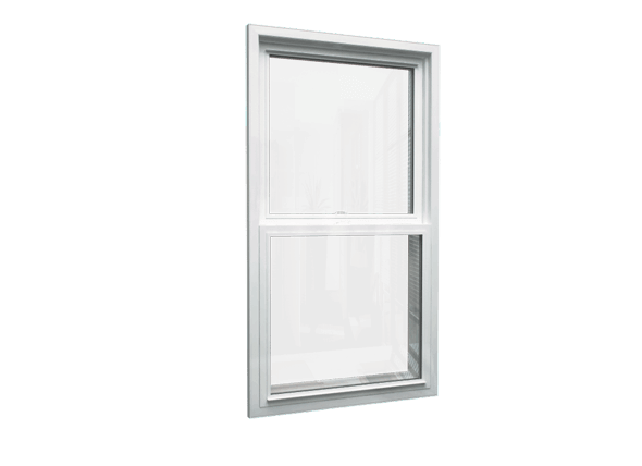 double hung window closed